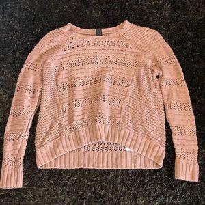 Purple high low knit sweater